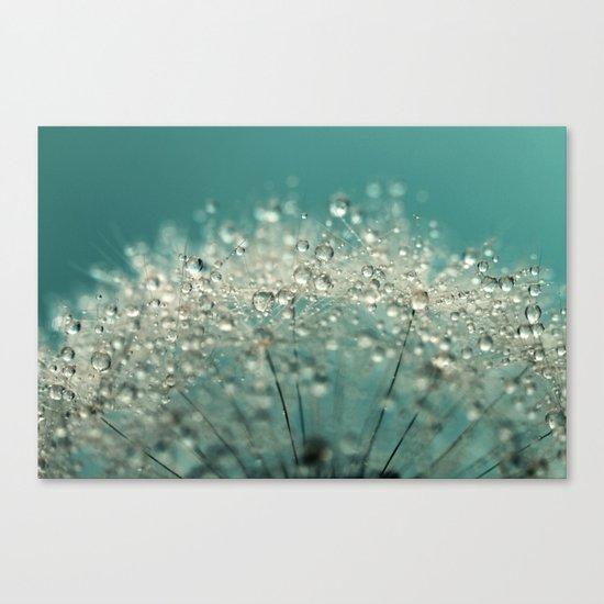 Cyan Sparkles Canvas Print