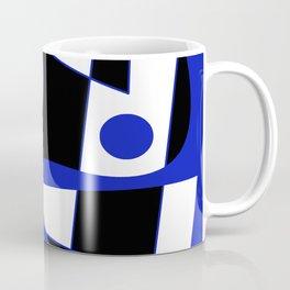 Abstract #505 Blue Coffee Mug