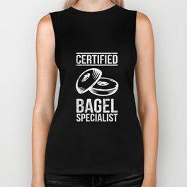 Bagel Tshirt - Funny Certified Bagel Specialist Shirt Biker Tank