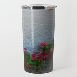 Geraniums small Village | Greece Travel Mug