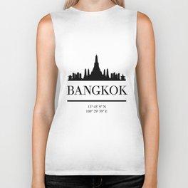 BANGKOK THAILAND BLACK SILHOUETTE SKYLINE ART Biker Tank