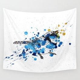 Splattered Blue jay Wall Tapestry