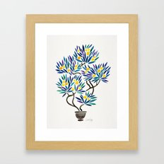 Bonsai Fruit Tree – Lemons Framed Art Print