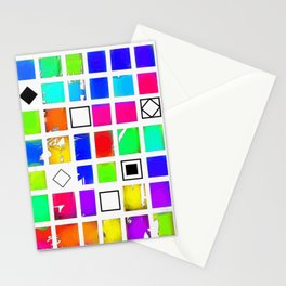 Square and Rhombus Stationery Cards