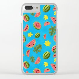 Summer Watermelon Pattern Clear iPhone Case