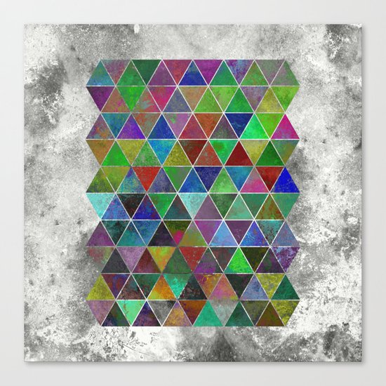 Textured Triangles - Abstract, textured, geometric, painting Canvas Print