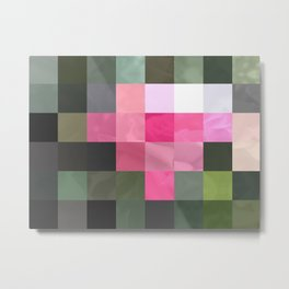 Pink Roses in Anzures 6 Abstract Rectangles 3 Metal Print