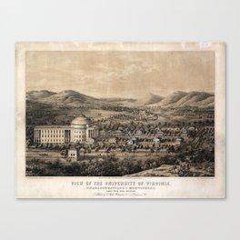 University of Virginia, Charlottesville & Monticello (1856) Canvas Print