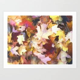 Fall Leaves Bright Art Print