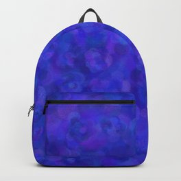 Royal Blue Floral Abstract Backpack