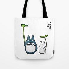 Chu & Chibi Totoro Pop art - White Version Tote Bag
