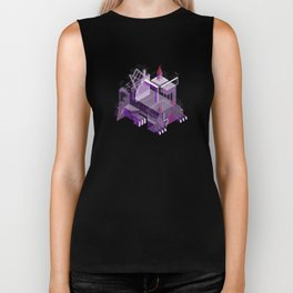 Den of the Headless Lion in Purple and Lavender Biker Tank