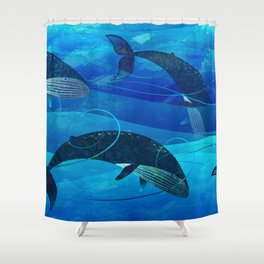 Tropical waters Shower Curtain