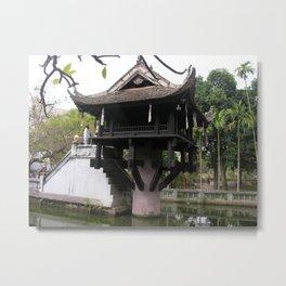 One Pillar Pagoda Hanoi Botanical Garden Vietnam Metal Print