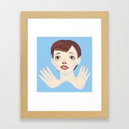 Miss Garland Framed Art Print