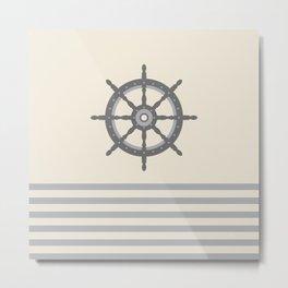 AFE Gray Helm Wheel Metal Print