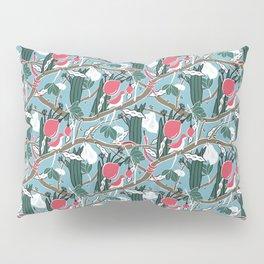Hiding Birds Pink Pillow Sham