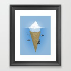 Hidden part of icebergs Framed Art Print