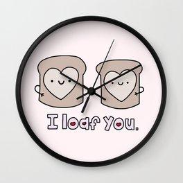 I Loaf You Wall Clock