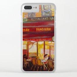 Paris Night Clear iPhone Case