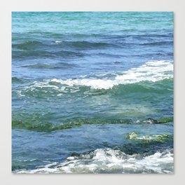 Gradient Sea Colors Canvas Print