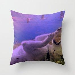 Siberian Husky Digit. Edition Throw Pillow