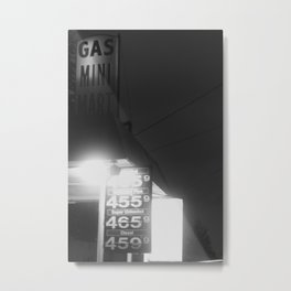 Gas Mini Metal Print