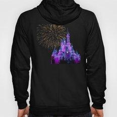Disney Magic Kingdom Fireworks at Christmas - Cinderella Castle Hoody