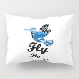 Flying Bird with Clouds Pillow Sham