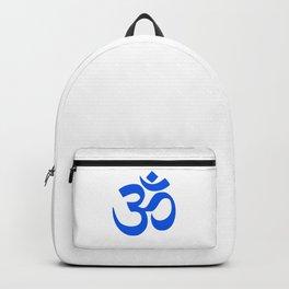Blue Hindu Om Symbol  Backpack
