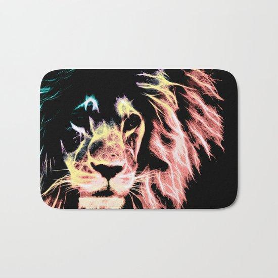 Leo Lion : Subtle Pastels Bath Mat