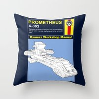prometheus Throw Pillows featuring Prometheus  by Paul Elder