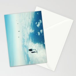 Heaven's already here above the clouds Stationery Cards