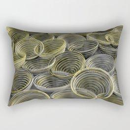 Black, white and yellow spiraled coils Rectangular Pillow