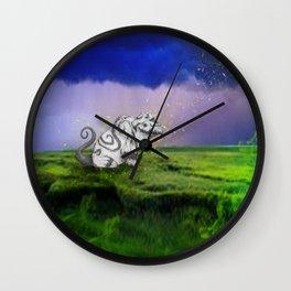 I Believe In Gruff Wall Clock