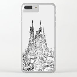 Cinderella Castle Illustration Clear iPhone Case