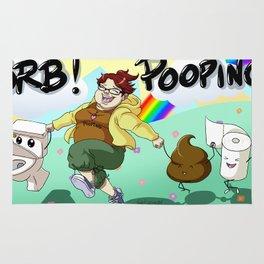 BRB! POOPING! Rug