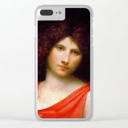 """Giorgione """"Young Man with Arrow"""" Clear iPhone Case"""