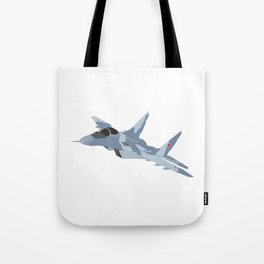 Russian Jet Fighter MiG-29 Tote Bag