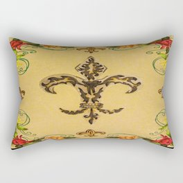 Fluer de lis (warm) Rectangular Pillow