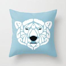 An Béar Bán (The White Bear) Throw Pillow