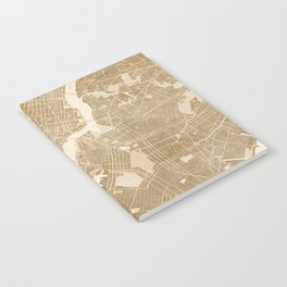 Vintage map of New York in sepia Notebook