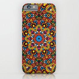Arabesque kaleidoscopic Mosaic G518 iPhone Case