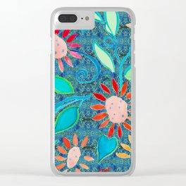 zakiaz ocean of flowers Clear iPhone Case