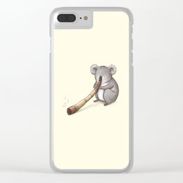 Koala Playing the Didgeridoo Clear iPhone Case
