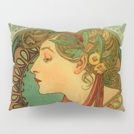 "Alphonse Mucha ""Laurel"" Pillow Sham"