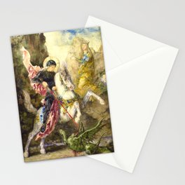 "Gustave Moreau ""St. George and the Dragon (1869)"" Stationery Cards"