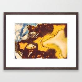 Amber Honey Agate Framed Art Print