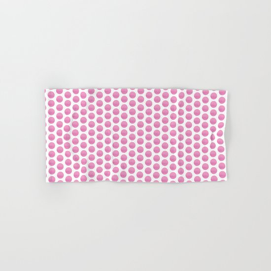 Pink spots  Hand & Bath Towel