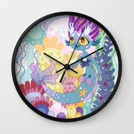 Anemone Mermaid Wall Clock